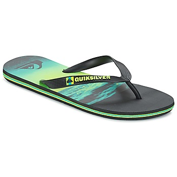 Sapatos Homem Chinelos Quiksilver MOLOKAIHOLDDOWN Preto / Verde