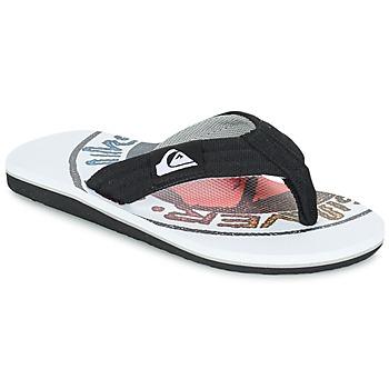 Sapatos Criança Chinelos Quiksilver MOLOKAI LAYBACK Preto / Branco / Vermelho