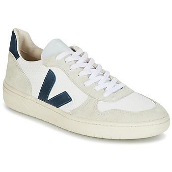 Sapatos Homem Sapatilhas Veja V-10 Branco / Azul