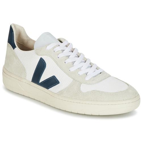 Sapatos Sapatilhas Veja V-10 Branco / Azul