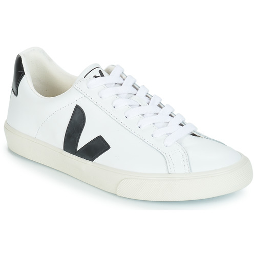 Sapatos Sapatilhas Veja ESPLAR LOW LOGO Branco / Preto