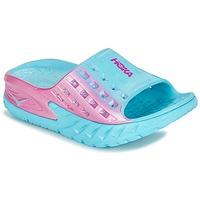 Sapatos Mulher Sapatos aquáticos Hoka one one W BONDI SLIDE Azul / Rosa