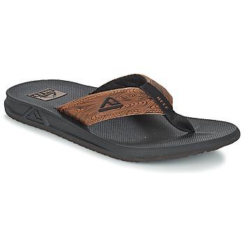 Sapatos Homem Chinelos Reef PHANTOM PRINTS Preto / Castanho
