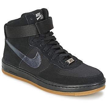 Sapatos Mulher Sapatilhas de cano-alto Nike W AF1 ULTRA FORCE MID Preto / Prateado