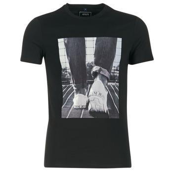 Textil Homem T-Shirt mangas curtas Armani jeans JANADORI Preto