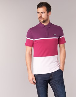 Textil Homem Polos mangas curta Armani jeans MARAFOTA Violeta / Vermelho / Branco