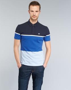 Textil Homem Polos mangas curta Armani jeans MARAFOTA Azul