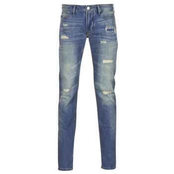 Textil Homem Calças de ganga slim Armani jeans NAKAJOL Azul