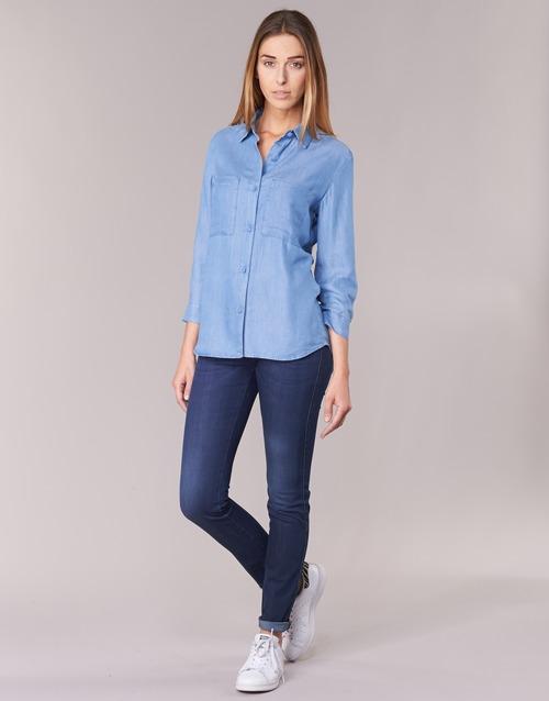 Textil Mulher Gangas Skinny Armani jeans HERTION Azul