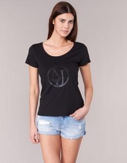 Textil Mulher T-Shirt mangas curtas Armani jeans LASSERO Preto