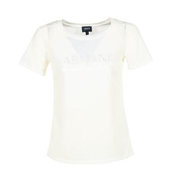 Textil Mulher T-Shirt mangas curtas Armani jeans KAJOLA Branco