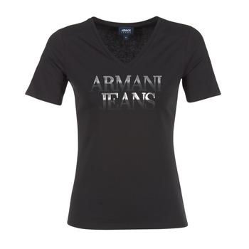 Textil Mulher T-Shirt mangas curtas Armani jeans JAGONA Preto
