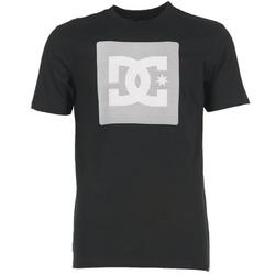 Textil Homem T-Shirt mangas curtas DC Shoes VARIATION SS Preto / Cinza / Branco