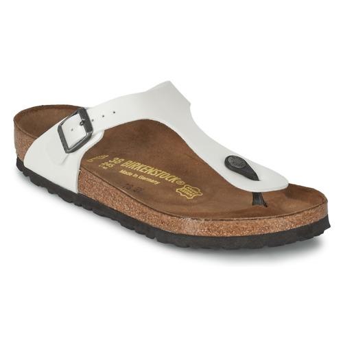 Sapatos Mulher Chinelos Birkenstock GIZEH Branco / Nacre