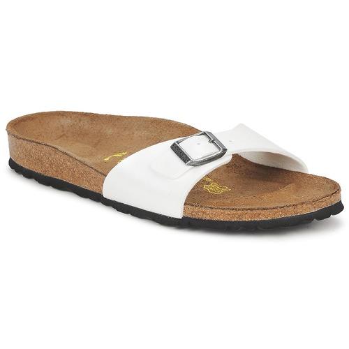 Sapatos Mulher Chinelos Birkenstock MADRID Branco / Nacre