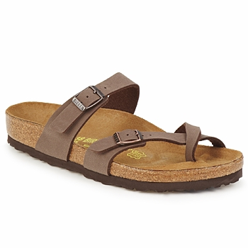Sapatos Mulher Chinelos Birkenstock MAYARI Café