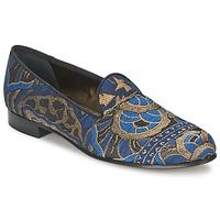Sapatos Mulher Mocassins Etro 3046 Preto / Azul
