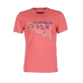 Textil Homem T-Shirt mangas curtas Napapijri VINTAGE Coral