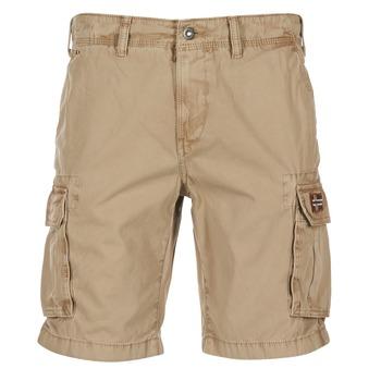 Textil Homem Shorts / Bermudas Napapijri NON Bege