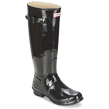Botas Hunter WOMEN'S ORIGINAL TALL GLOSS Preto 350x350