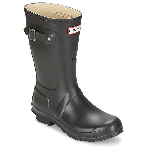 Sapatos Mulher Botas de borracha Hunter WOMEN'S ORIGINAL SHORT Preto