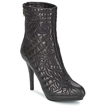 Sapatos Mulher Botins Versace MARGHERITA Preto