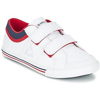 Sapatos Rapaz Sapatilhas Le Coq Sportif SAINT GAETAN PS CVS Branco / Vermelho