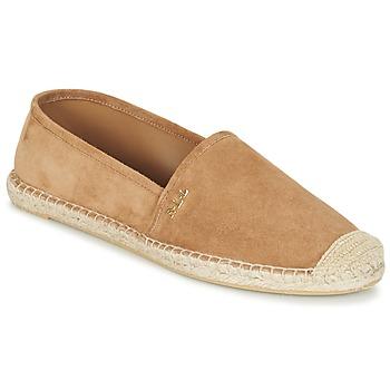 Sapatos Mulher Alpargatas Ralph Lauren DANITA ESPADRILLES CASUAL Camel