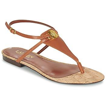 Sapatos Mulher Sandálias Ralph Lauren ANITA SANDALS CASUAL Castanho