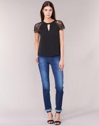 Textil Mulher Calças Jeans Lee MARION STRAIGHT Azul