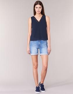 Textil Mulher Shorts / Bermudas Lee BOYFRIEND SHORT Azul
