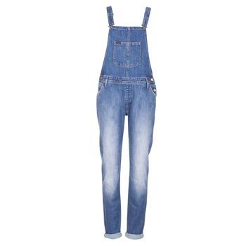 Textil Mulher Macacões/ Jardineiras Lee RELAXED BIB Azul / Claro