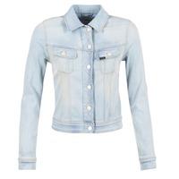 Textil Mulher casacos de ganga Lee SLIM RIDER Azul / Claro