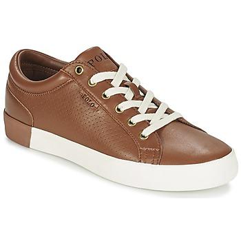 Sapatos Homem Sapatilhas Ralph Lauren ALDRIC II Castanho