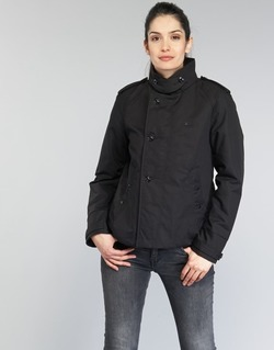 Textil Mulher Trench G-Star Raw FLORENCE CROPPED Preto