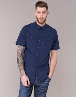 Textil Homem Camisas mangas curtas G-Star Raw 3301 SHIRT Marinho