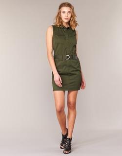Textil Mulher Vestidos curtos G-Star Raw ROVIC SLIM DRESS S/LESS Cáqui