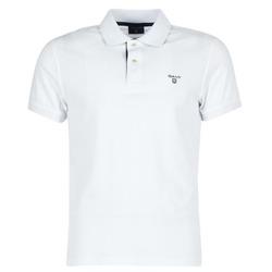 Textil Homem Polos mangas curta Gant CONTRAST COLLAR PIQUE Branco