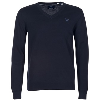 Textil Homem camisolas Gant WEIGHT COTTON V NECK Marinho