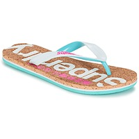 Sapatos Mulher Chinelos Superdry CORK COLOUR POP FLIP FLOP Branco / Rosa / Azul