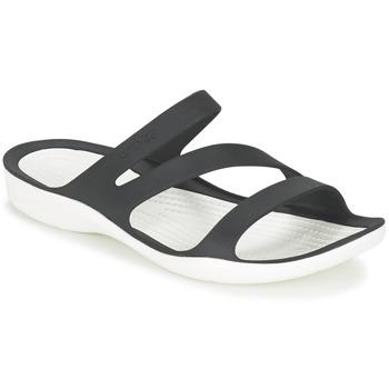Sapatos Mulher Sandálias Crocs SWIFTWATER SANDAL W Preto / Branco