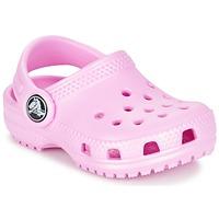 Sapatos Rapariga Tamancos Crocs Classic Clog Kids Rosa