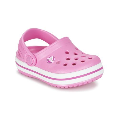 Sapatos Rapariga Tamancos Crocs Crocband Clog Kids Rosa