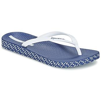 Sapatos Mulher Chinelos Ipanema ANATOMIC SOFT Branco / Azul