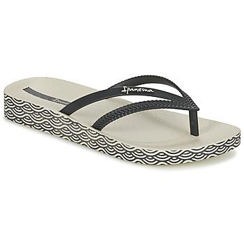 Sapatos Mulher Chinelos Ipanema BOSSA SOFT Preto / Bege