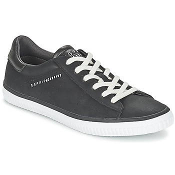 Sapatos Mulher Sapatilhas Esprit RIATA LACE UP Preto