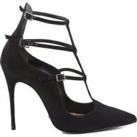Sapatos Mulher Escarpim Schutz SCARPIN REDESIGNED MULTI STRAPS BLACK Preto