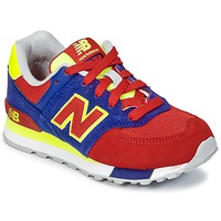 Sapatos Criança Sapatilhas New Balance KL574 Azul / Vermelho / Amarelo