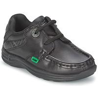 Sapatos Criança Sapato de vela Kickers REASON LACE Preto