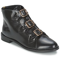 Sapatos Mulher Botins F-Troupe Triple Buckle Boot Preto